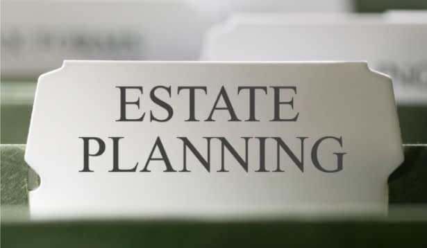 tile that says estate planning