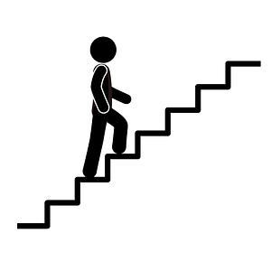 clip art human walking up stairs