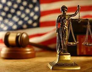 lady justice and gavel