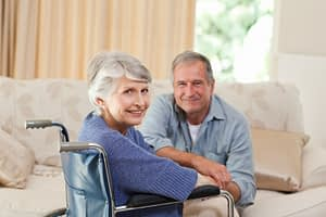 old couple in a care home