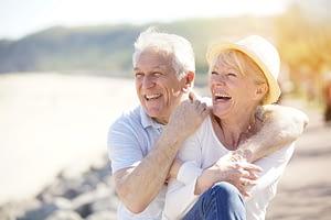 retired happy couple